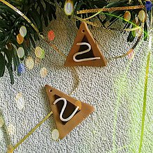Dekorácie - FIMO vianočné medovníky (vianočné stromčeky) - 9222464_