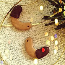 Dekorácie - FIMO vianočné medovníky (rohlíčky) - 9222975_