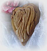 Dekorácie - anjel v lipovom dreve... - 9224314_