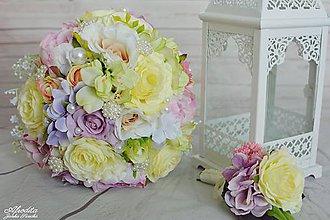 Kytice pre nevestu - Šperková svadobná kytica, pierko - 9227708_