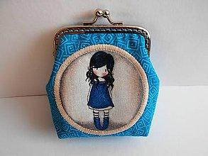 Peňaženky - Minipeňaženky s dievčatkom - 9225820_