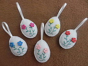 Dekorácie - Veľkonočné vajíčka - 5 ks - 9225582_