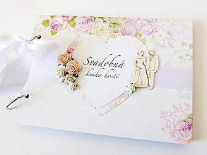 Papiernictvo - svadobná kniha hostí - 9225683_