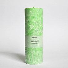 Svietidlá a sviečky - Zelená sviečka Ø55 - 9224839_