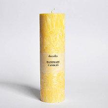 Svietidlá a sviečky - Žltá sviečka Ø45 - 9224960_