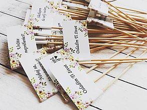 Darčeky pre svadobčanov - Vtipné tematicke vlajocky do zákuskov - 9228436_