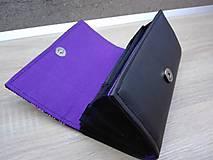 Peňaženky - Peňaženka na 12 kariet,koženka, bavlna - 9227320_