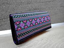 Peňaženky - Peňaženka na 12 kariet,koženka, bavlna - 9227321_