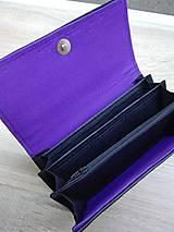 Peňaženky - Peňaženka na 12 kariet,koženka, bavlna - 9227327_