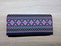 Peňaženky - Peňaženka na 12 kariet,koženka, bavlna - 9227328_