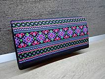 Peňaženky - Peňaženka na 12 kariet,koženka, bavlna - 9227331_