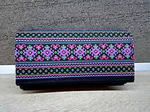 Peňaženky - Peňaženka na 12 kariet,koženka, bavlna - 9227332_