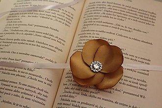 Pierka - Svadobný náramok pre družičku zlatý - 9224401_