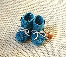 Topánočky - Tyrkysové papučky - 9226464_