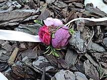 Náramky - Náramok fialovo-ružový - 9227727_