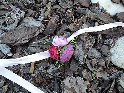 Náramok fialovo-ružový