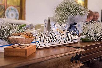 Dekorácie - Mená na stôl 50cm - 9226190_