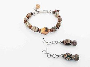 Sady šperkov - Pre kráľovnú Tibetu... náramok a náušnice - 9224876_