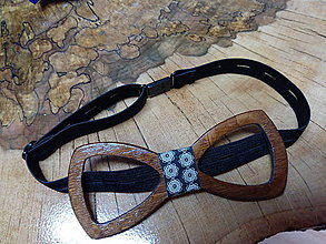 Doplnky - Pánsky drevený motýlik - 9227342_