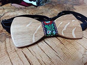Doplnky - Pánsky drevený motýlik - 9227569_