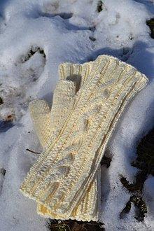Rukavice - Pletené bezprstíkové rukavice - 9225093_