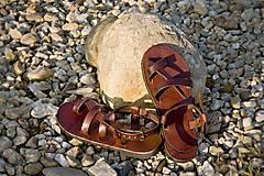 Obuv - Kožené sandále Roma - 9224965_