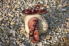Obuv - Kožené sandále Roma - 9224967_