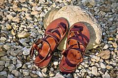 Obuv - Kožené sandále Roma - 9224968_