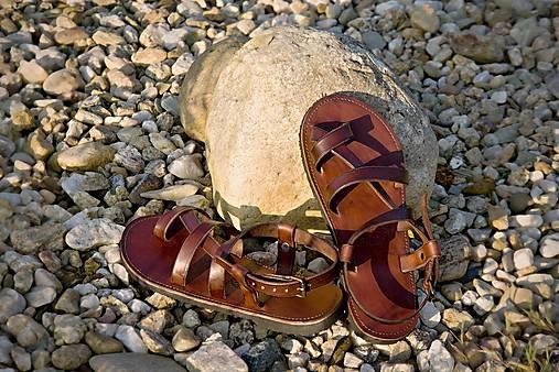 Kožené sandále Roma