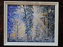Obrazy - Zima a svitanie - 9224781_