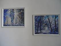 Obrazy - Zima a svitanie - 9224786_