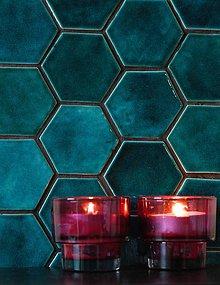 Dekorácie - Keramické obkladačky šesťuholníky - 9225109_