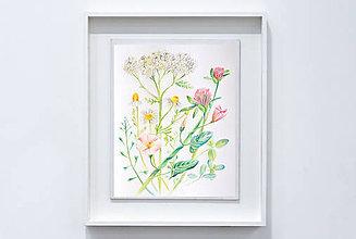 Kresby - Lúčne kvety - 9227841_