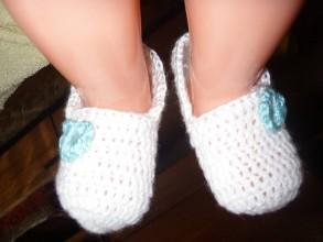 Topánočky - Novorodenecké papučky - 9227827_