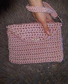 Kabelky - Háčkovaná taška do ruky malá - 9228676_