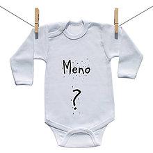 Detské oblečenie - Body s menom Vášho dieťatka :) (Ružová) - 9224665_
