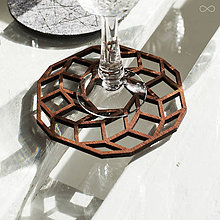 Dekorácie - Drevená podložka pod pohár MANDALA II. - 9228801_