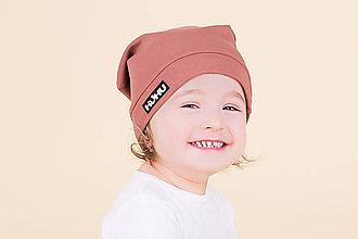 Detské čiapky - Jarná šmolko čiapka v krásnej hnedej - 9228033_