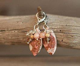 Náušnice - Mohutné náušnice z minerálu jaspis, slnečný kameň, krištáľ, záhneda - 9225438_