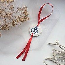 Darčeky pre svadobčanov - Medajlón na fľaše s iniciálami - modrý - 9224042_