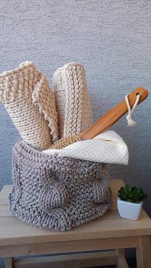 Košíky - Pletený košík s osmičkami - 9226322_
