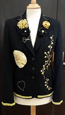 Kabáty - sako v zlatom šate - 9230058_