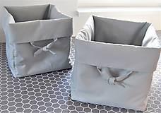 4x box na hračky s ozdobnými uškami
