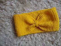 Čelenka -  mašlička (Žltá)