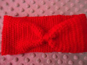 Ozdoby do vlasov - Čelenka- červená mašlička - 9233441_