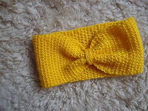 Ozdoby do vlasov - Čelenka -  mašlička (Žltá) - 9233573_