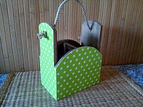 Pomôcky - zelené bodky - 9230644_