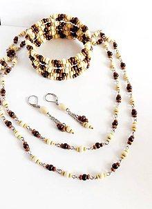 Sady šperkov - Sada z dřevěných korálků a chir.oceli - 9230574_