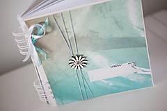 Papiernictvo - Tyrkysový svadobný album / kniha hostí - 9233319_
