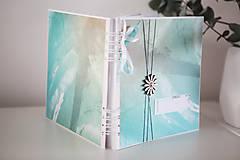 Papiernictvo - Tyrkysový svadobný album / kniha hostí - 9233325_